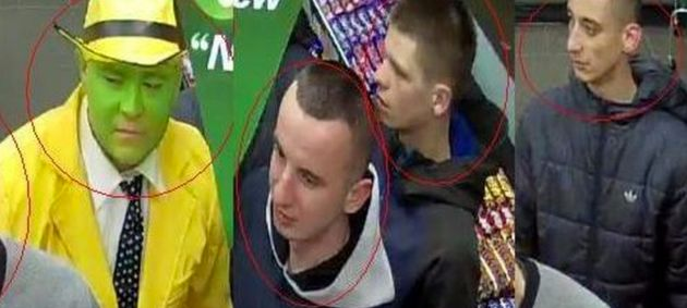 Police also want to speak with these men seen with the man in
