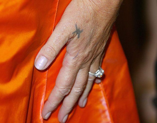 A close up of Helen Mirren's