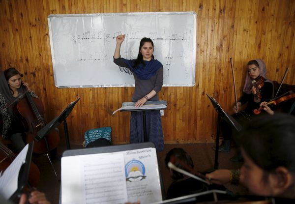 """Compared to women outside Afghanistan, we feel we are in a cage,"" said Negin Ekhpulwak, leader of the orchestra."
