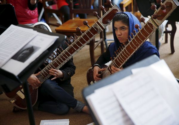 The formation of the girls' orchestra was the best response to extremists, said Ahmad Naser Sarmas, a musicologist
