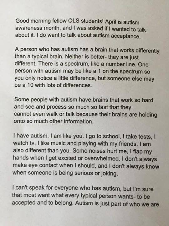 Keira's empowering speech.
