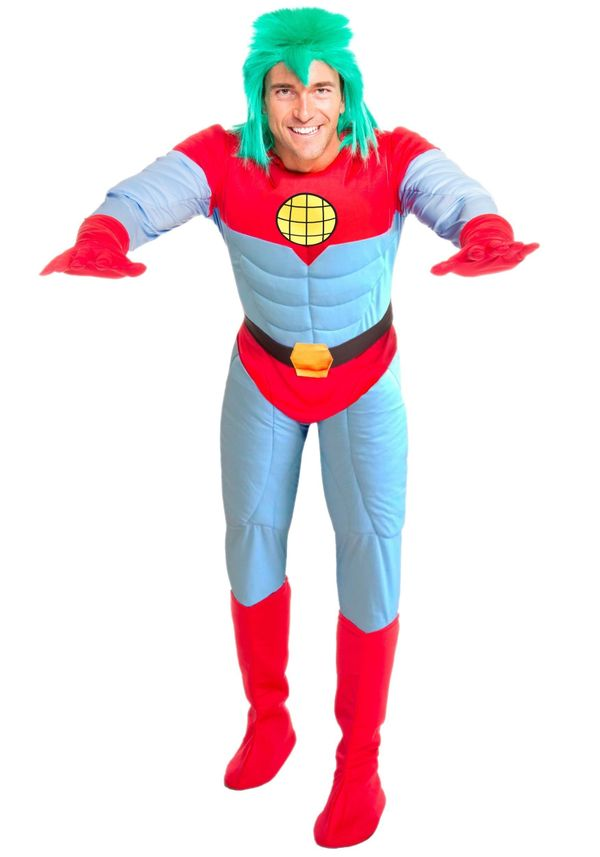 "Back in the early 1990s, <a href=""http://www.halloweencostumes.com/adult-captain-planet-costume.html"" target=""_blank"">Captain"