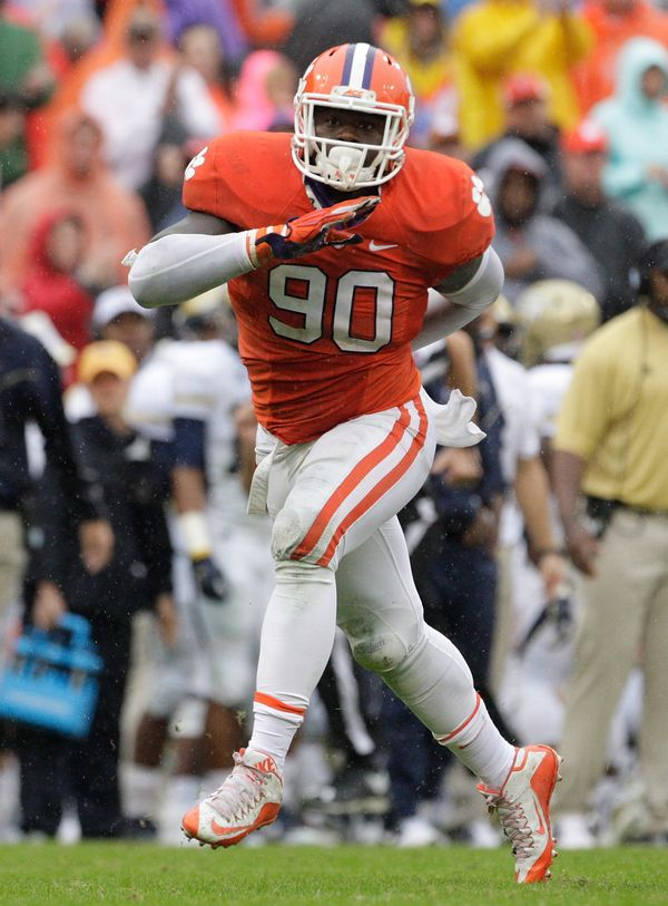 Lawson, a junior, is a big name who comes from a loaded Clemson defense. But atthis point, he enters the league as a fa