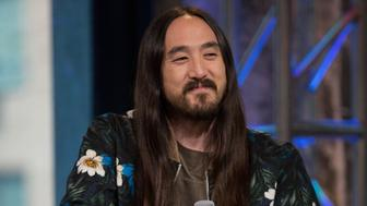 NEW YORK, NY - APRIL 15:  Dj Steve Aoki discusses 'I'll Sleep When I'm Dead'at AOL Studios In New York on April 15, 2016 in New York City.  (Photo by Adela Loconte/WireImage)