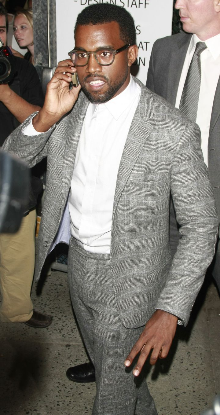 Kanye on his phone in 2008.