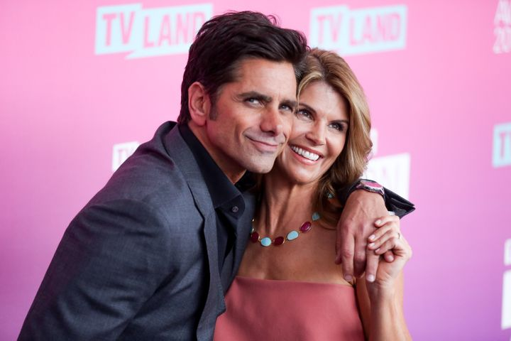 """""""Fuller House"""" stars John Stamos and Lori Loughlin attend the TV Land Icon Awards. Their show hurts Netflix's overall standin"""