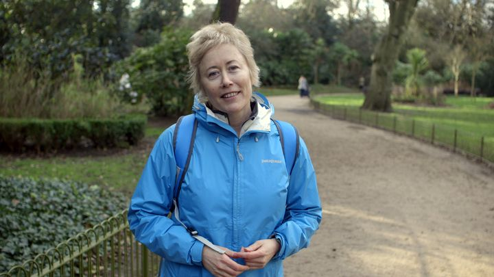 Katherine Davies is walking from London to Geneva to deliver messages calling for peace to international diplomats engaged in