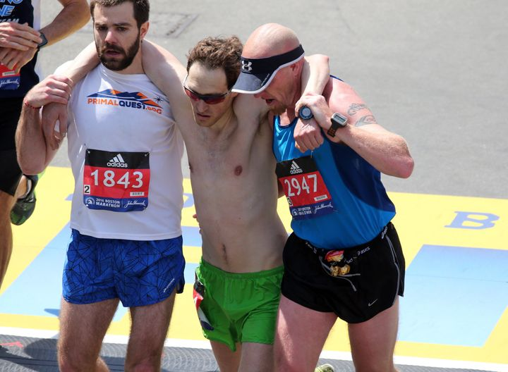 When helping afellow runner is more important than anything else on the course.