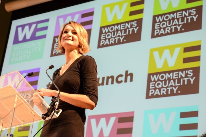 WE party leaderSophie Walker at the party's policy launch in London in October 2015.