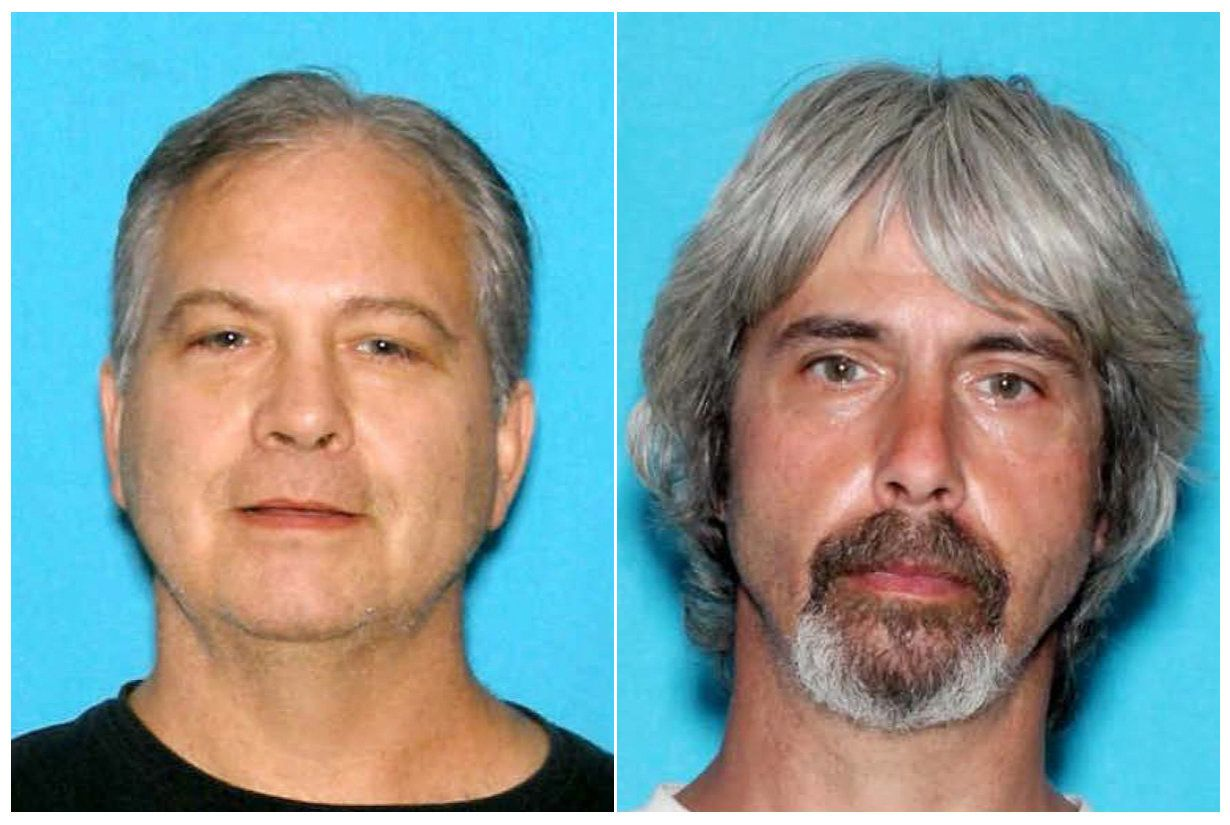 From left: John and Tony Reed are wanted in connection to the presumed murder of a missing married couple in Washington state