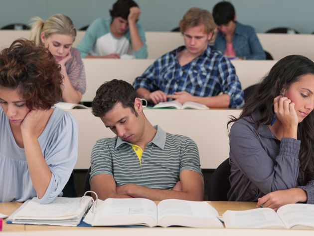 Image result for sleeping in class college