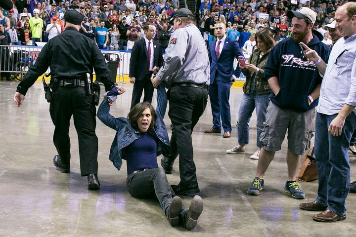 Protester removed from the Trump rally.
