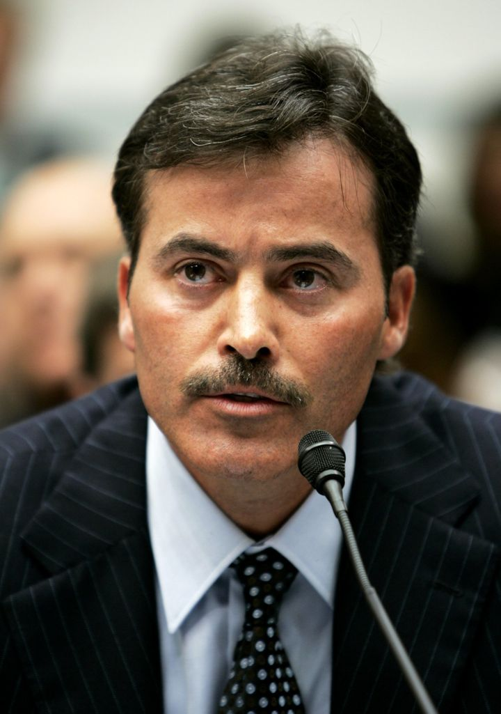 Former major league baseball player Rafael Palmeiro at a hearing by the House Government Affairs Committee looking into the u