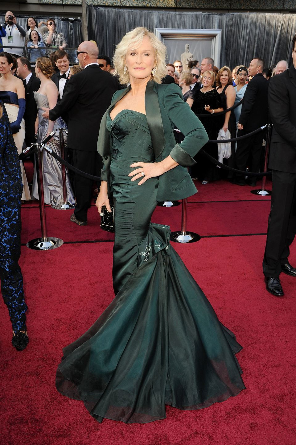 Glenn walking the red carpet at the 84th annual Academy Awards show, where she was nominated for her...