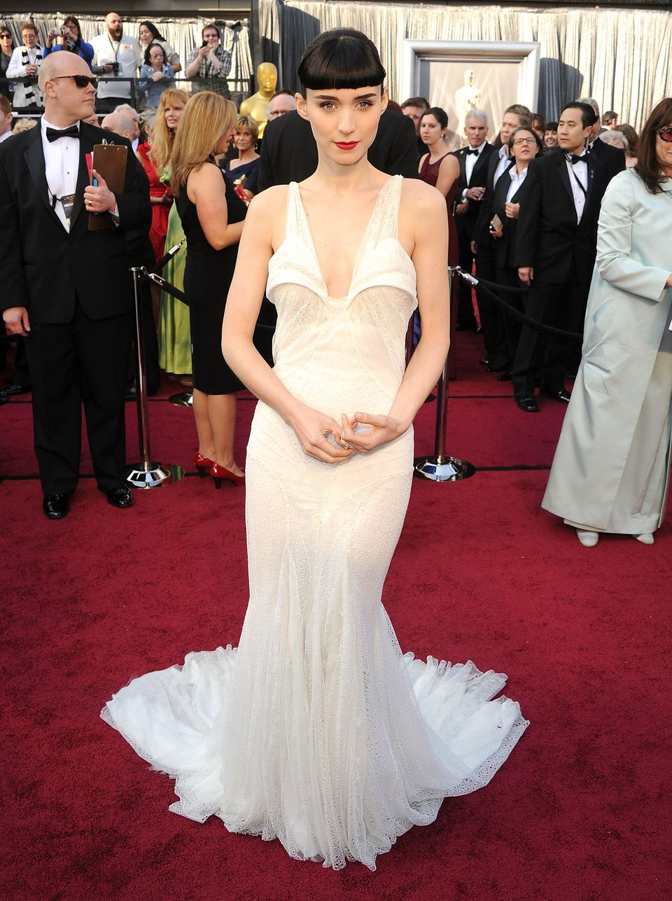 Rooney on the red carpet at the 84th Academy Awards show where she was nominated for Best Actress for...