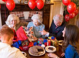 Queen Elizabeth Enjoys A Traditional British Family Birthday Party At The Carvery