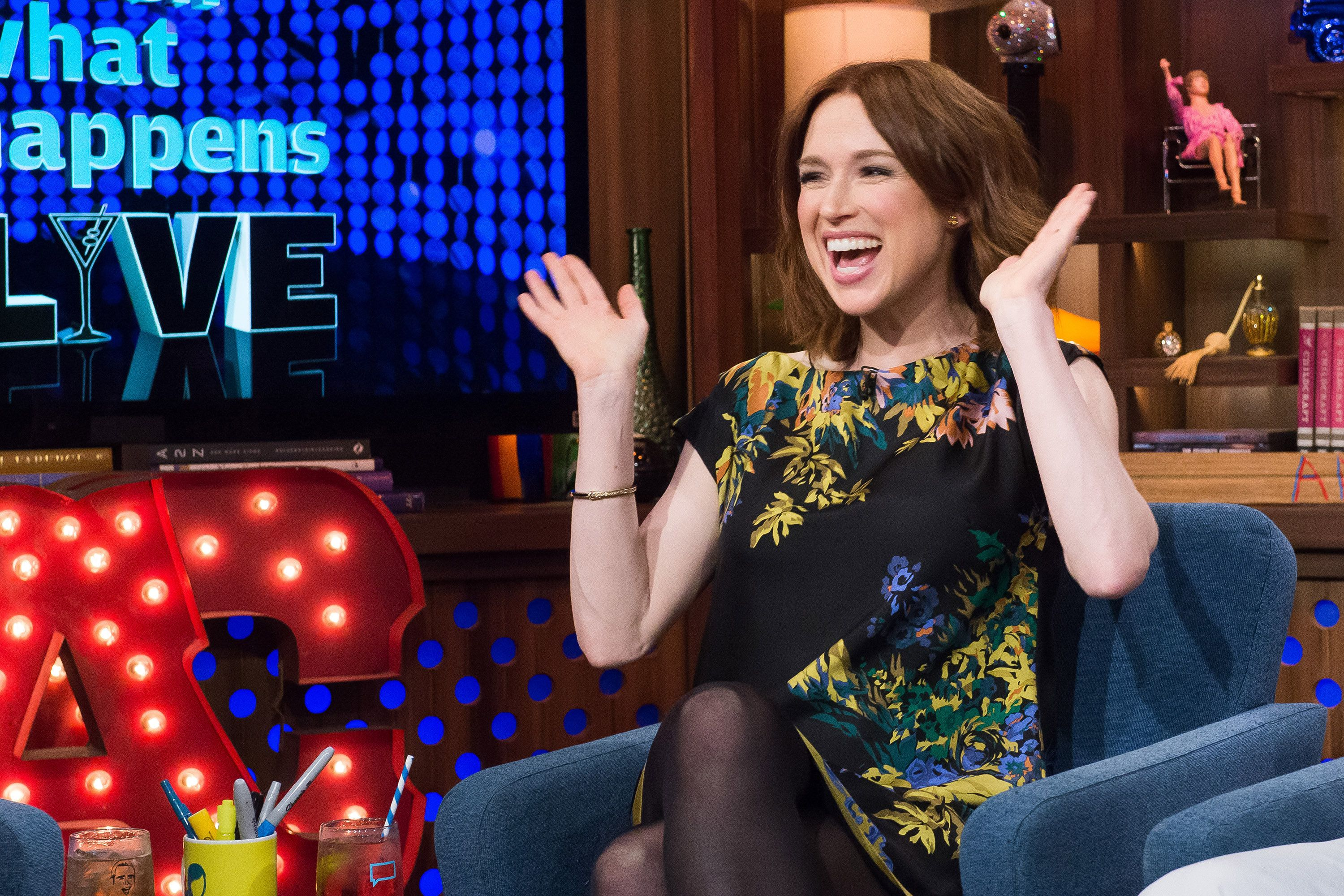 WATCH WHAT HAPPENS LIVE -- Pictured: Ellie Kemper -- (Photo by: Charles Sykes/Bravo/NBCU Photo Bank via Getty Images)