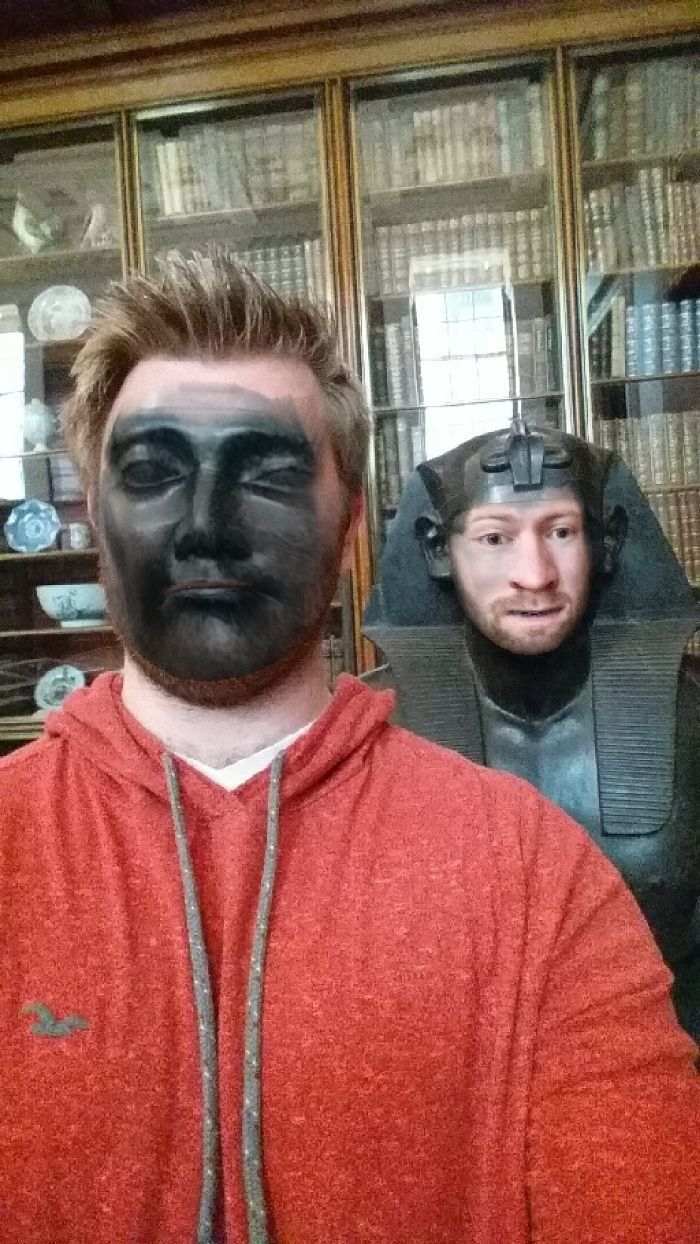 This Guy Went Around The British Museum Faceswapping With All The