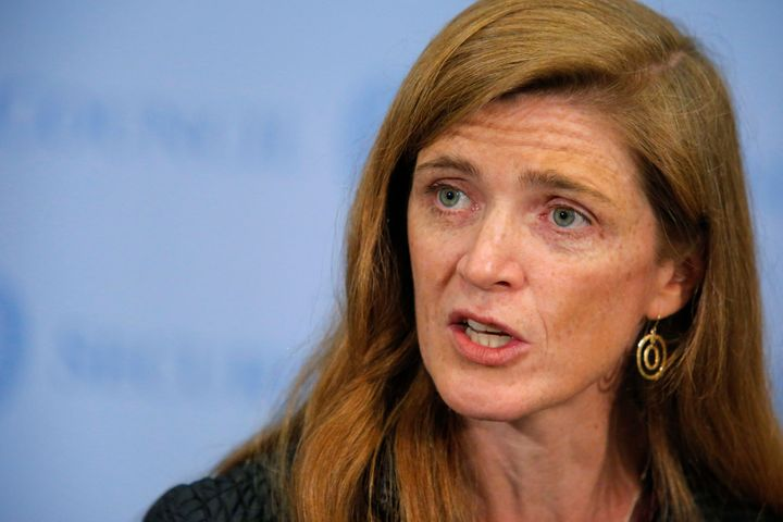 A vehicle in Samantha Power's motorcade hit and killed a young boy in Cameroon on Monday.