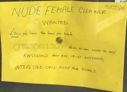 70-Year-Old Man Advertising For 'Nude Cleaner' Inundated With Offers