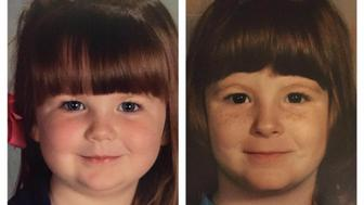 My daughters preschool picture came home and I knew it looked very familiar! (She's on the left at 4 years old and I'm on the right at 5.)