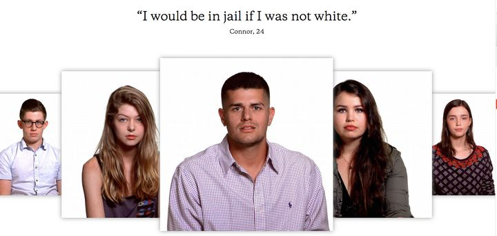 "White millennials open up about what they think of their whiteness in short videos published as part of the, ""The Whiteness P"