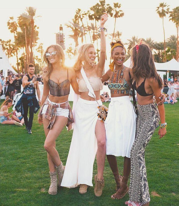 Victoria's Secret Models Nail Festival Fashion At