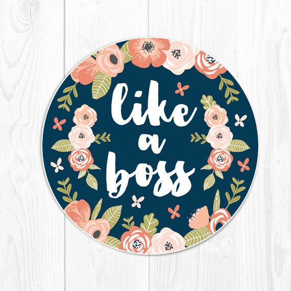 """Like A Boss"" Mousepad -- $12.00"