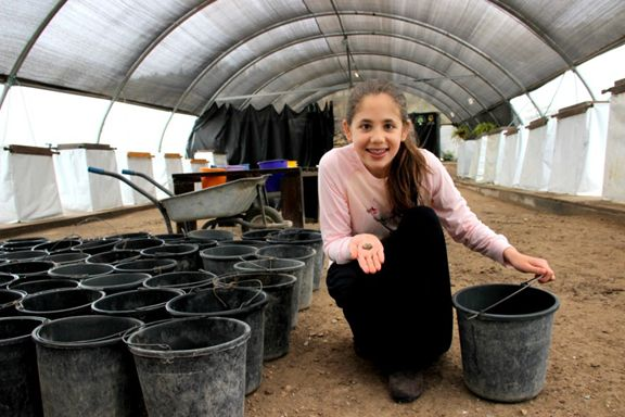 Neshama Spielman, 12, was 8 years old when she found the amulet during a dig inside theEmek Tzurim national park.