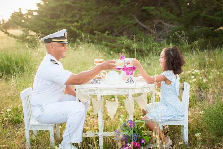 Lieutenant Navy Officer Josh Hicks with his daughter Tatyana.