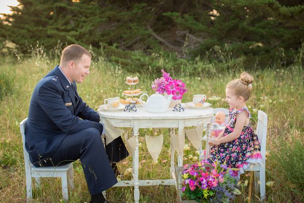 Captain Air Force Officer Jake Sabin And Lila