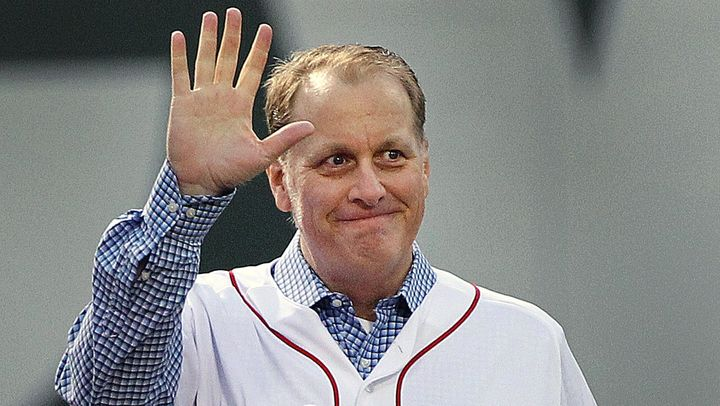 Former Red Sox pitcher Curt Schilling is seen in this 2014 file photo. Schilling stirred controversy for sharing an