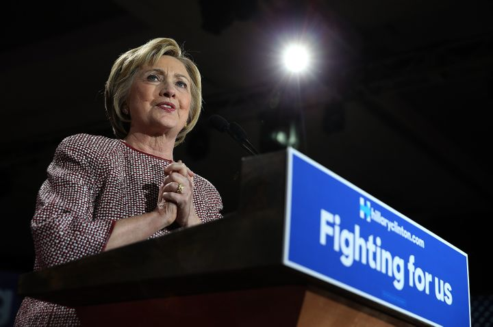 Hillary Clinton highlighted the work of Erica Smegielski, whose mother was slain in the Sandy Hook Elementary School mas