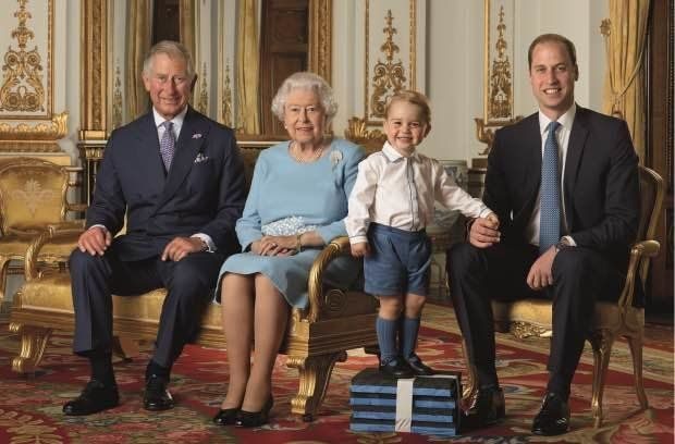 Prince George, 2, gets boost from foam blocks in royal photo
