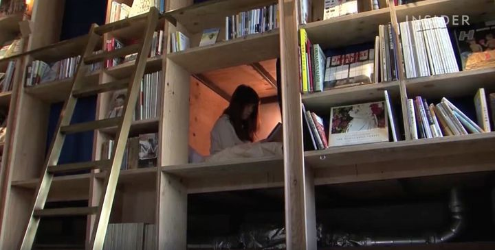Sleep Inside A Bookshelf At This Cozy Japanese Hostel