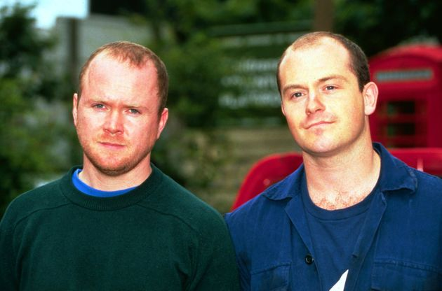 Ross Kemp and Steve McFadden as Grant and Phil Mitchell, back in