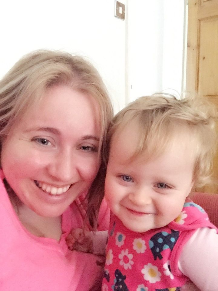 Kimberley Thursfield and her 17-month-old daughter Alana