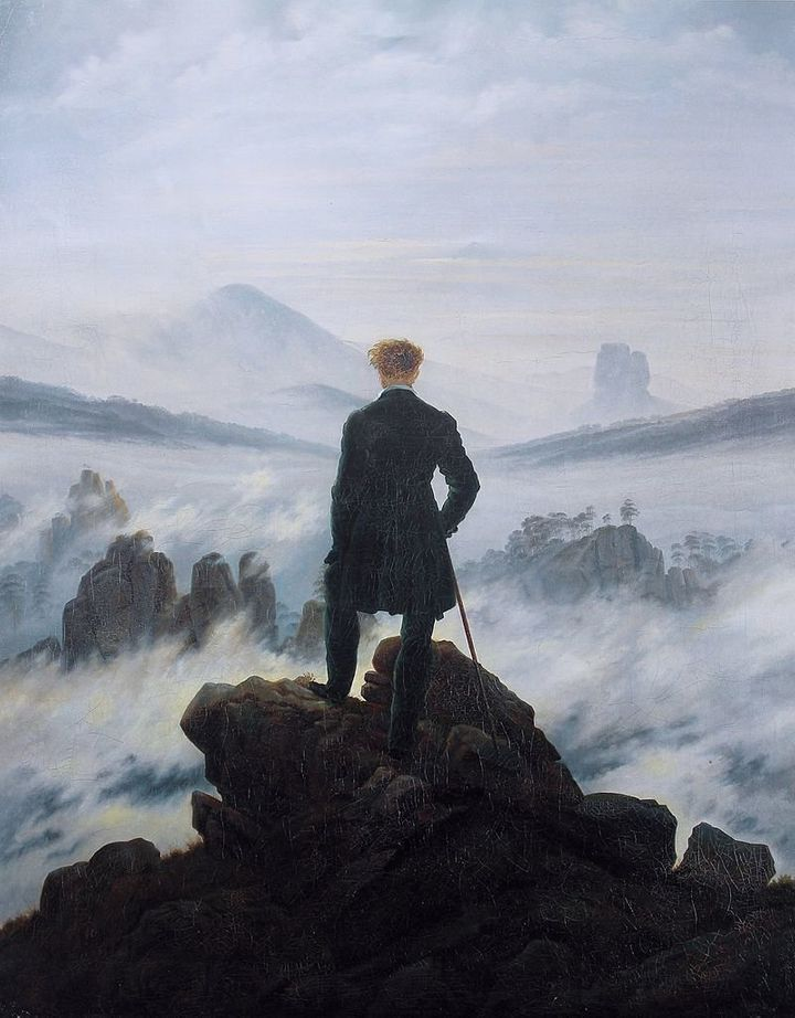 "Caspar David Friedrich, ""Wandered above the Sea Fog,"" 1818"