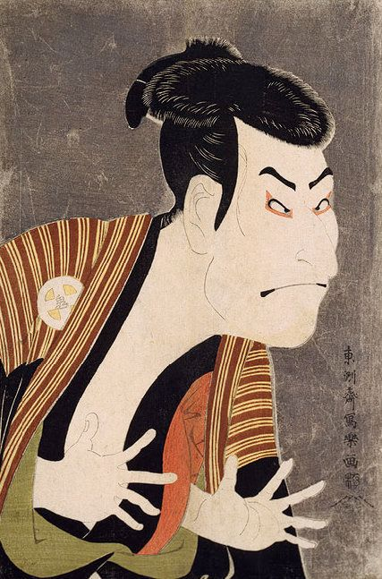 Toshusai Sharaku,&nbsp;Oniji Ōtani III (aka. Nakazō Nakamura II) as Edobee in the May 1794 production of <i>Koi Nyōbo Somewak