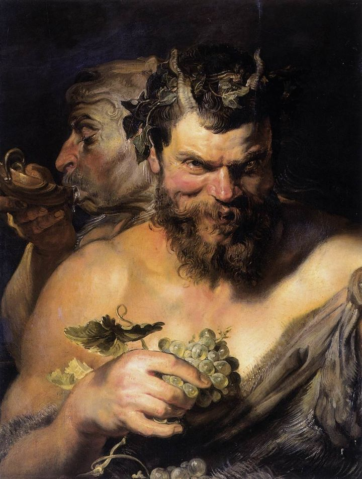 "Peter Paul Rubens, ""Two Satyrs,"" between 1618 and 1619"