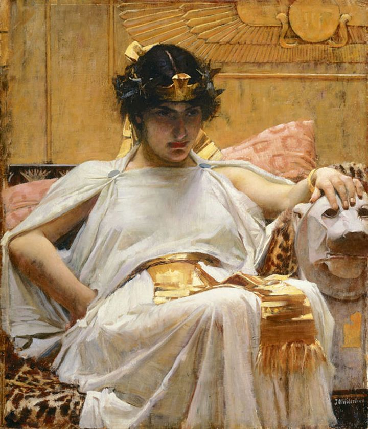 "John William Waterhouse, ""Cleopatra,"" 1888"