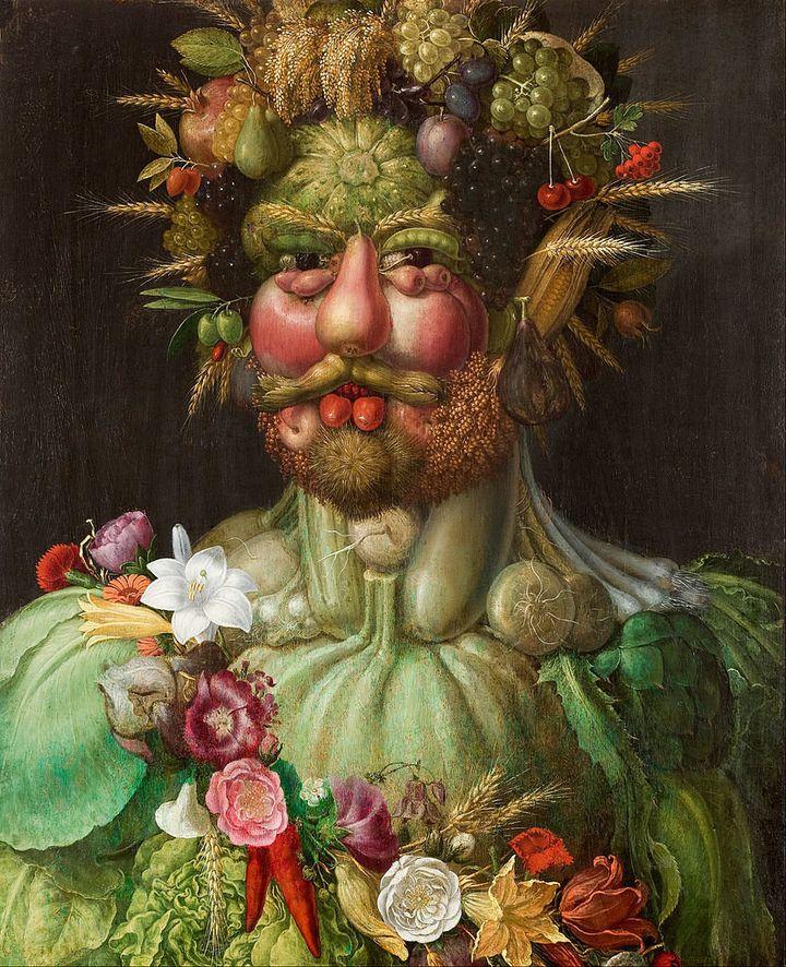 "Giuseppe Arcimboldo, ""Rudolf II of Hamsburg,"" 1590"