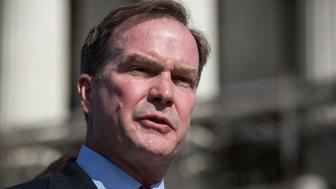 WASHINGTON, DC - OCTOBER 15:  Michigan Attorney General Bill Schuette speaks during a press conference outside the Supreme Court after going before the Supreme Court in 'Schuette v. Coalition to Defend Affirmative Action' on October 15, 2013 in Washington, DC. The case revolves around affirmative action and whether or not states have the right to ban schools from using race as a consideration in school admissions.  (Photo by Andrew Burton/Getty Images)