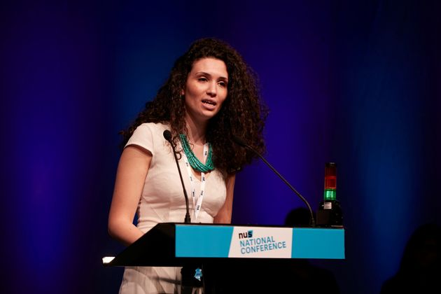Newly-elected NUS president Malia Bouattia delivering a speech on