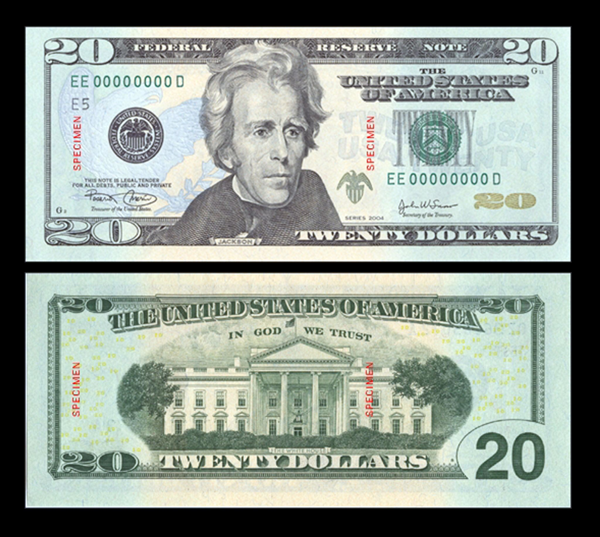 This is the $20 bill as of May 13, 2003.