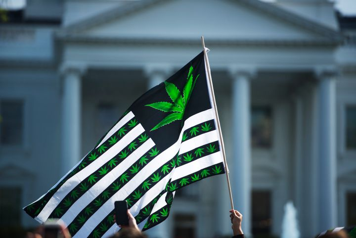 Advocates for marijuana legalization rallied outside the White House on April 2. A marijuana advocacy organization based in D