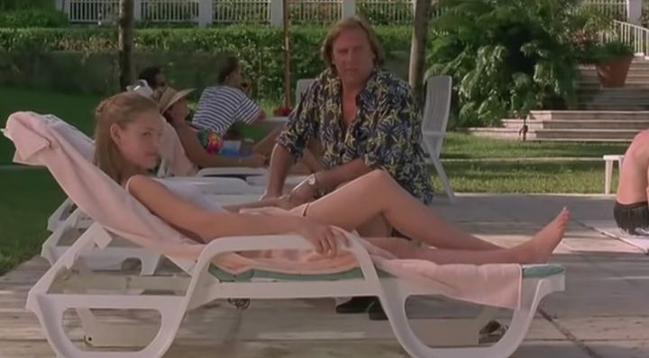 "Katherine Heigl and Gerard Depardieu in ""My Father The Hero."""