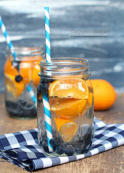"""Get the <a href=""""http://www.thepeachkitchen.com/2013/07/blueberry-%E2%99%A5-orange-water-infuse-your-water/"""" target=""""_blank"""">"""