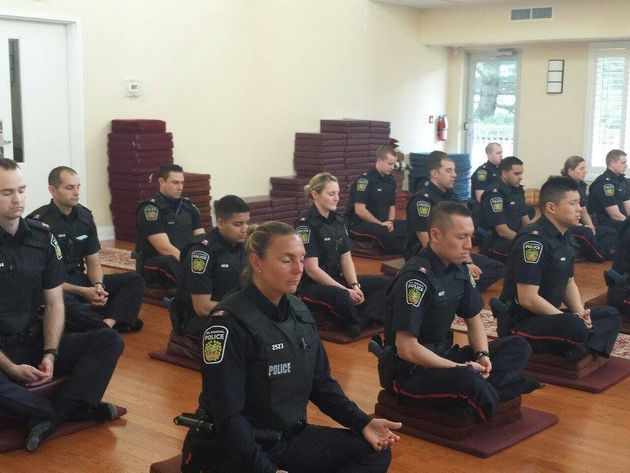 Police Officers Get Their Serenity On, Meditate Before