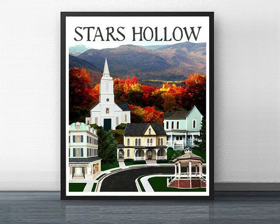 """Gilmore Girls"" Stars Hollow Print -- $15.00"